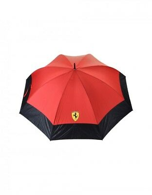 New Ferrari Golf umbrella with carbon fiber effect print included Brick red