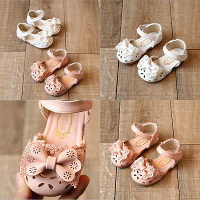 Cute Infant Girls Summer Sandals Toddler Baby Princess Soft Sole Bowknot Shoes