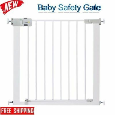 Safety 1st Secure Tech Simply Close Child Baby Metal Gate White