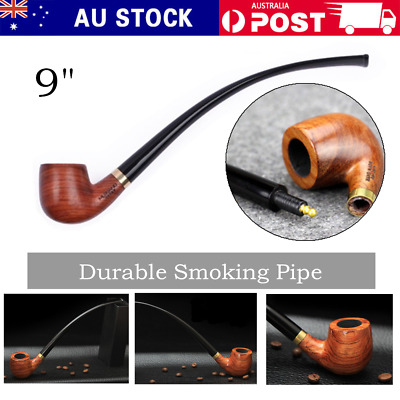 Bent Style Rosewood Durable Smoking Pipe Tobacco Cigarettes Cigar Pipes Filter