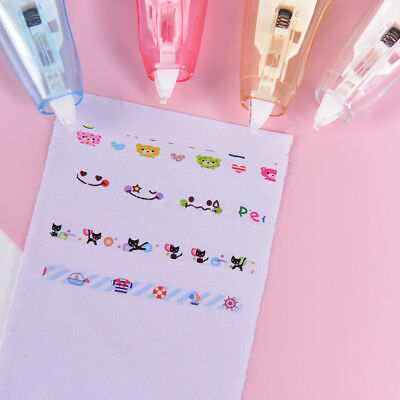 Creative Stationery Push Correction Tape Lace for Key Tags Sign Students GiftsZP