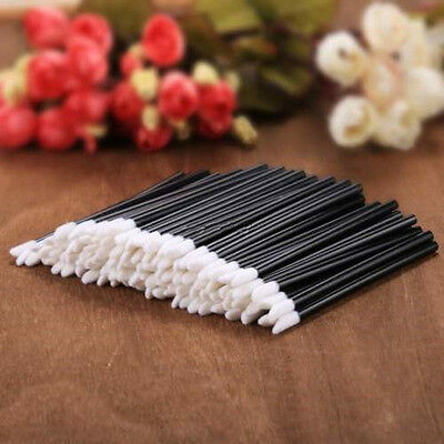 50/100Pc Disposable Lip Brush Gloss Wands Applicator Stick Make Up Cosmetic Tool