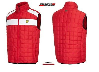 GILET Bodywarmer Scuderia Ferrari Mens Padded Quilted Formula One F1 Red New