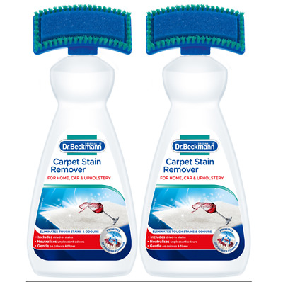 Dr Beckmann Carpet Stain Remover w/ Brush & Oxi Action 650ml (Pack of 2)