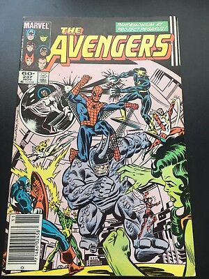 The Avengers #237 Cents Issue Marvel Comics  Spider-Man Appearance
