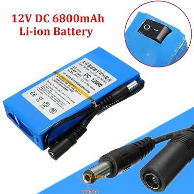 DC 12V 6800mAh Super Power Portable Li-ion Rechargeable Battery Pack + EU Plug