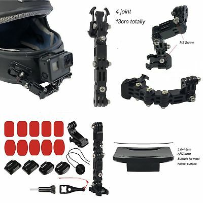 Motorcycle Full Face Helmet Chin Mount Holder For GoPro Hero6/5/4 XiaoYi Camera