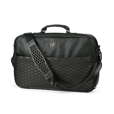 Alfa Romeo Black Leather Shoulder Laptop Computer Bag New Genuine 6002350060