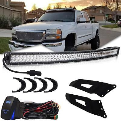 Mounting Brackets W/50inch Curved LED Light Bar Kit For 1999-2006 Chevrolet GMC