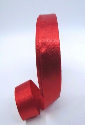 15mm Width Satin Red Ribbon single side Hair Clip Card Making Gift