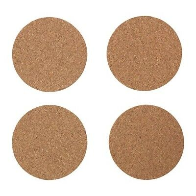 Coaster AVSKILD Cork 10 cm x 2.5 mm 4 pack Protects table surface reduces noise