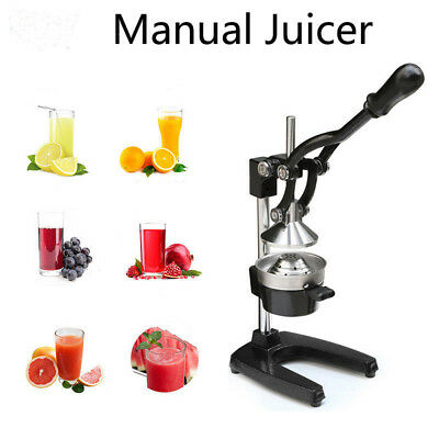 Commercial Hand Press Manual Fruit Juicer Juice Squeezer Orange Lemon Extractor