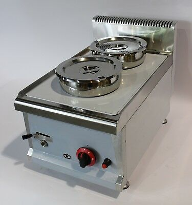 Ex-display LPG or NG GAS Commercial Wet BAIN MARIE with TAP  2x7L Round Pots