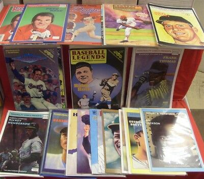 Sports Superstars Legends Celebrity Personality Baseball Comic Lot W/cards