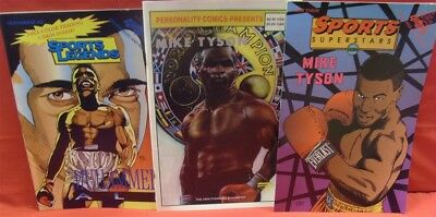 Sports Superstars Legends Personality Boxing Comic Lot Mike Tyson Muhammed Ali