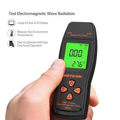 Meterk Handheld Mini Digital LCD EMF Meter Electromagnetic Radiation Tester