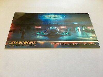 TOPPS STAR WARS ROTS WIDEVISION CHROME METAL carte H9 palpatine's secret chamber