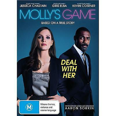 Molly's Game Dvd, New & Sealed, 2018 Release, Region 4, Free Post