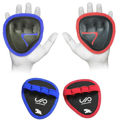 JP Hand Grip Weight Lifting Pads Workout Gloves Gym Fitness Pro Palm Grip Pair