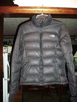 e1dd13779 THE NORTH FACE WOMENS LONG 600 DOWN Black QUILTED PUFFER COAT SZ ...