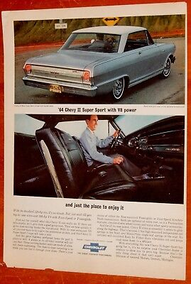 Sweet 1964 Chevy Nova Ss With V8 Performance Ad / Vintage 60S American Car
