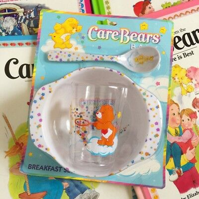 Care Bears Baby Toddler Plastic Dish Set 2002 NRFP Bowl Spoon Cup