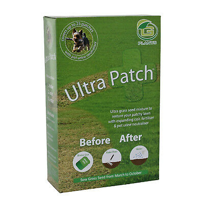 Ultra Patch Grass seed Lawn Repair 1.5kg Natural Fast Growing Dog Urine Tired