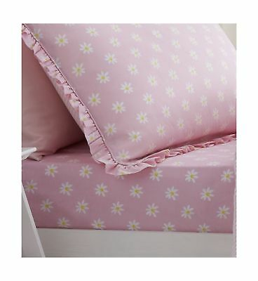 Catherine Lansfield Daisy Dreamer Easy Care Single Fitted Sheet Pink .