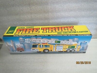 BP 1997 Aerial Tower Fire Truck #2 in Series-Mint in Box