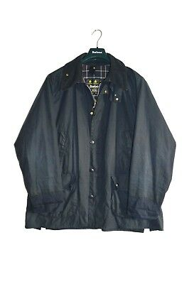 Vintage Barbour Bedale Waxed Jacket Navy Blue size men's XL