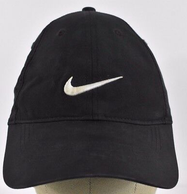 Black Nike Golf Swoosh Logo Running Embroidered Baseball hat cap Adjustable