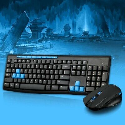 !     A     !    Multimedia HK3800 Wireless 2.4GHz Gaming Keyboard and Mouse Com