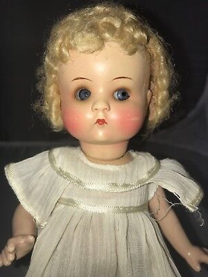 """9"""" Antique German Painted Bisque Head Doll AM JUST ME!  Composition Body"""
