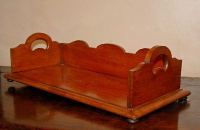 Antique C19th Mahogany Book Trough