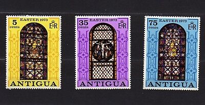 Antigua #304-306 Mnh Stained Glass Windows From Cathedral Of St. John
