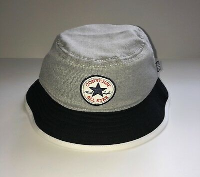 a2040714 Converse All Star Chuck Taylor Men's Classic Bucket Cap Hat Gray Black Size  L/XL