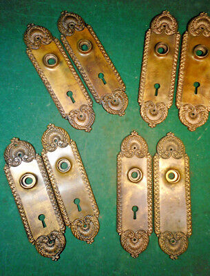 PAIR of HEAVY CAST BRASS or BRONZE VICTORIAN BACKPLATES - BEAUTIFUL  (10336-7)