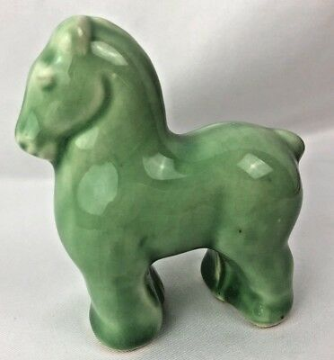 Old Stangl Pottery Percheron Horse Figurine Green Rare!