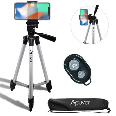 "Acuvar 50"" inch Smartphone Tripod & Bluetooth Remote For iPhone Xs Max Xr 8 7 6+"