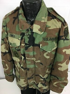 3a63daf0542eb Vtg 80's Alpha M-65 Camouflage Military Issued Camo FIELD Coat ARMY USN Jacket  M