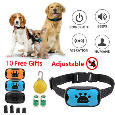 9 in 1 Anti Bark Collar Stop Dog Barking Sound Vibration S/M/L with LED 3 Shell