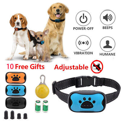 Anti Bark Collar 9 in 1 Stop Dog Barking Sound Vibration S/M/L Strap LED 3 Shell