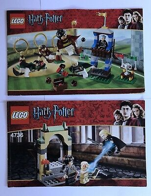 Lego Genuine Instruction Manual Booklet For 4737 Quidditch Match