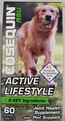 Cosequin ASU Active Lifestyle Joint & Pad Health For Dogs (60 Tab) - Ships Free!