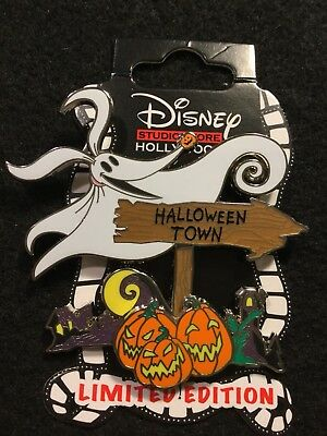 disney pin dsf dssh le 300 nightmare zero sign series halloween town pumpkins