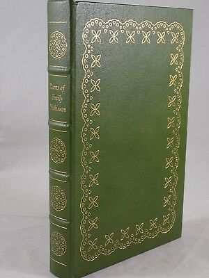 THE EASTON PRESS POEMS OF EMILY DICKINSON LEATHER BOUND VERY GOOD 1st Edition
