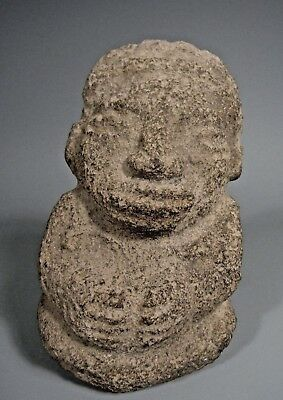 Costa Rica Nicoya Carved Stone Anthropomorphic Idol Statue ca. 500-800 AD