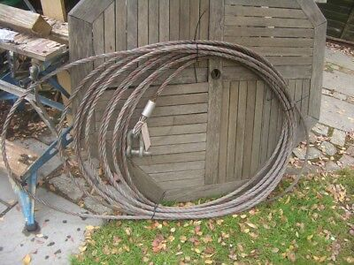 APPROX 30 METRE WIRE ROPE FOR 3 TON TIRFOR TU32 WINCHES & OTHERS 16.2mm  SRA1
