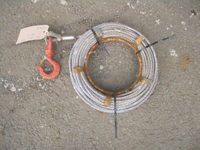 APPROX 10 METRE WIRE ROPE FOR TIRFOR MINIFOR ETC 7mm DIA 500KG SWL VAT INC SRA13
