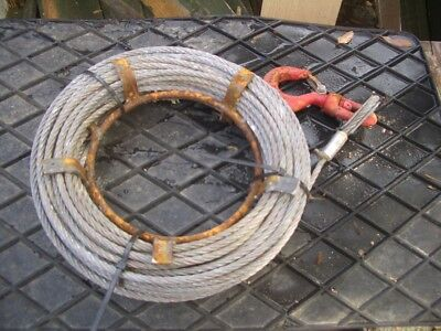 APPROX 10 METRE WIRE ROPE FOR TIRFOR TU8 ETC 8mm DIA 800KG SWL VAT INC SRA9